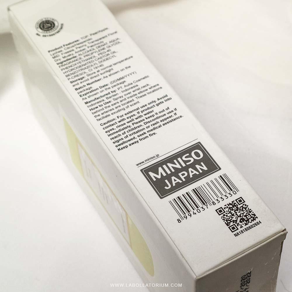 Review Miniso Indonesia British Pear Eau De Toilette Parfum Murah Best Seller Labollatorium.com