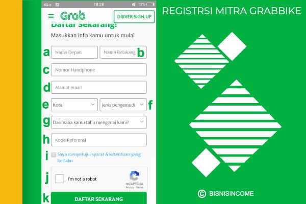 cara mendaftar ke Grab lewat ponsel