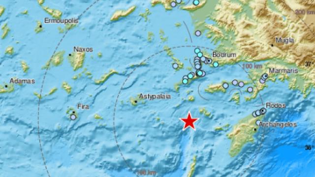 Δωδεκάνησα: Ισχυρός σεισμός 5,5 Ρίχτερ κοντά στην Τήλο