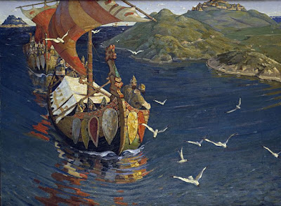 Guests from Overseas by Nicolas Roerich