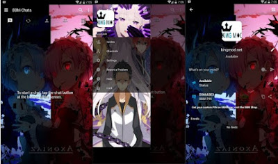 BBM MOD ANIME RE ZERO Versi Terbaru Full Features v3.0.1.25 Clone / Unclone 2016