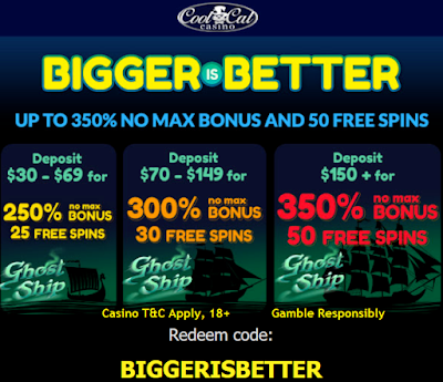 BIGGERISBETTER Bonus Coupon | Cool Cat Casino