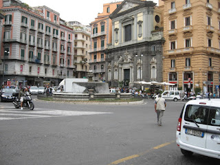 The Piazza Trieste e Trento, where Filippo Illuminato was gunned down in 1943, as it looks today