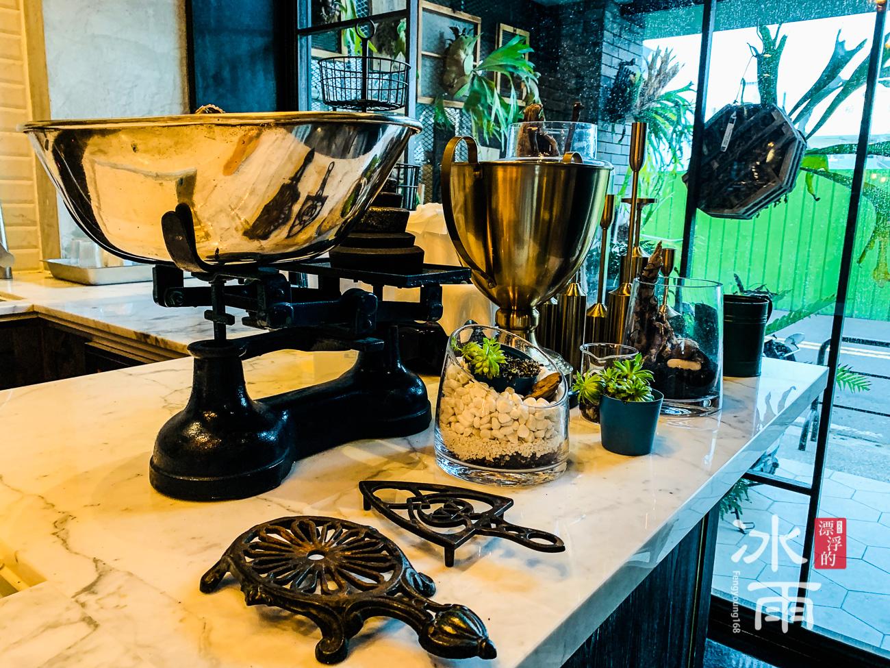 帕鉑舍旅 高雄住宿推薦 餐廳中島裝飾