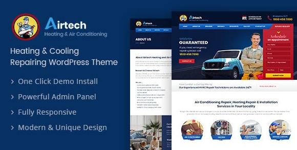 Airtech v1.6 – Plumber WordPress Theme