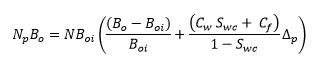 Mecanismo de empujeEcuación de Balance de Materiales para un yacimiento con empuje por gas en solución