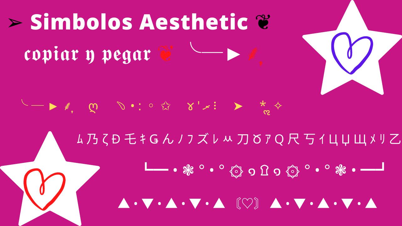simbolos aesthetic