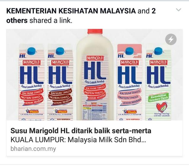 Susu HL MARIGOLD Ditarik Balik Serta Merta!