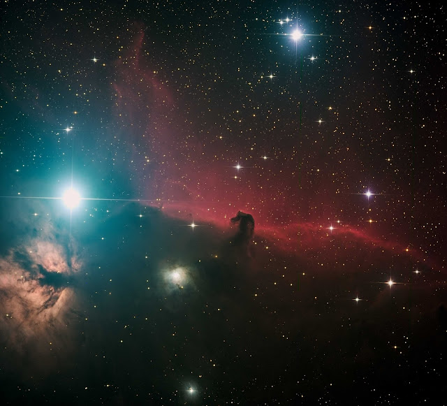 IC 434 or Barnard 33 - The Horsehead Nebula imaged on ATEO-1. Image processed by Muir Evenden.