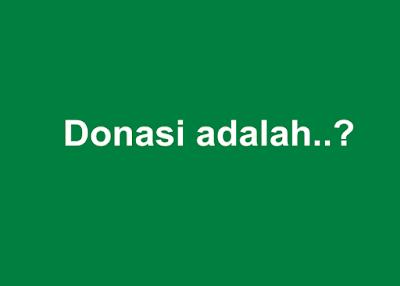 donasi adalah