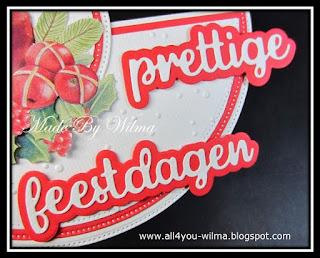 """Een close-up van """"prettige feestdagen"""" met schaduw. A close-up of """"happy holidays"""" (Dutch words) with shadow."""