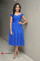 Actress Ritu Varma Pos in Blue Short Dress at Keshava Telugu Movie Audio Launch .COM 0015.jpg