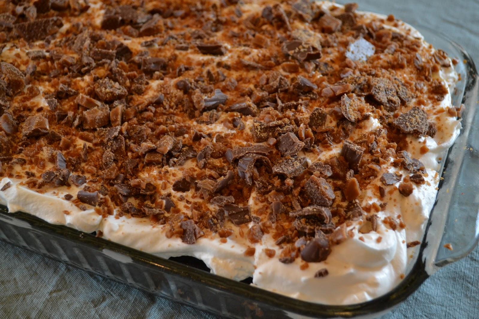 Chocolate Skor Cake Recipe