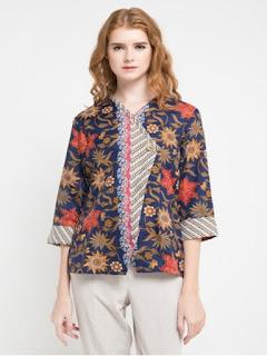 baju batik wanita modern dan unik