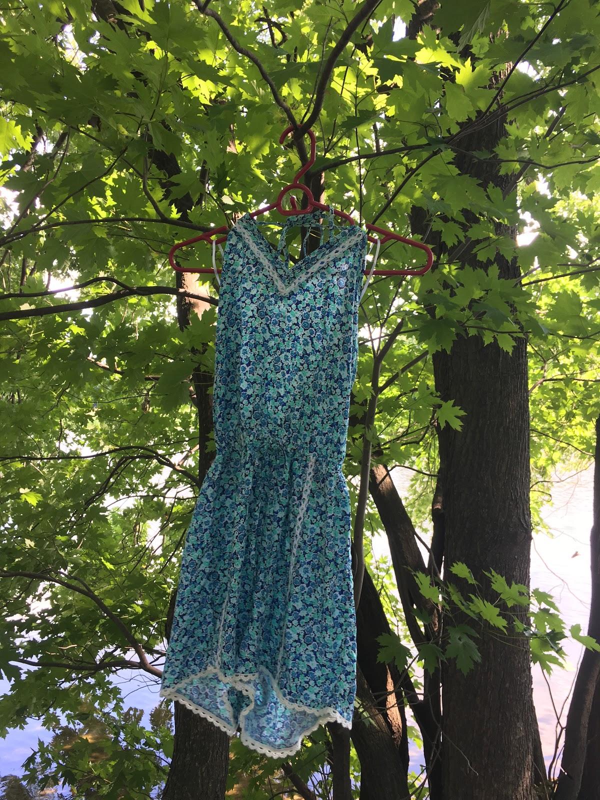 Hollister Blue Floral Romper| Akinokiki