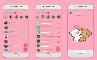 Teddy Bear White Theme For YOWhatsApp & Fouad WhatsApp By Leidiane