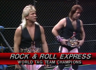 NWA Starrcade 1986 (The Skywalkers) - The Rock 'n' Roll Express defended the tag team titles against The Andersons