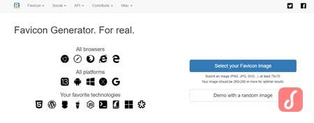 Realfavicongenerator.net Generator pembuat favicon