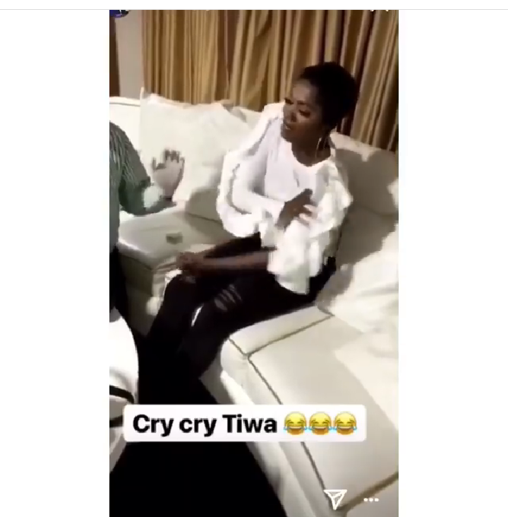 Video: Tiwa Savage cries like a baby because of injection