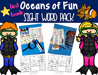 Sight Word Activity Pages and Review Cards for Literacy Centers