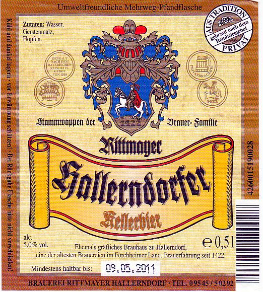 brauerei rittmayer hallerndorf kellerbier nr 88 bier scout. Black Bedroom Furniture Sets. Home Design Ideas