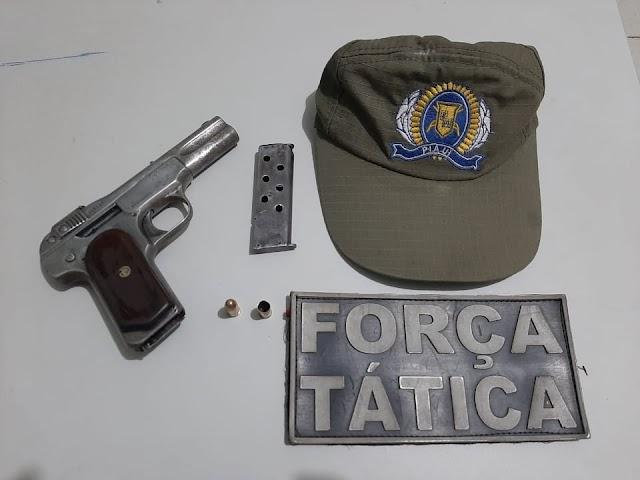 MORTE EM BAR: Polícia Militar prende em Parambu-CE jovem por prática de homicídio em Pimenteiras-PI.
