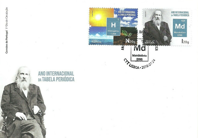 Portugal 2019 - International Year Periodic Table - Mendeleev FDC