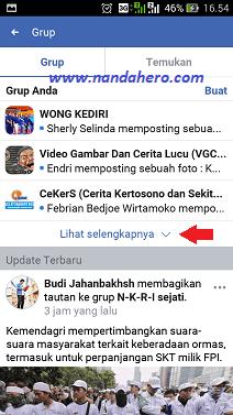 Cara Keluar dari Grup Facebook Lite