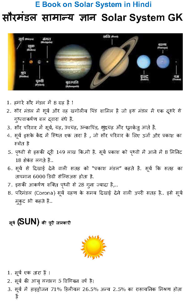 Solar System GK