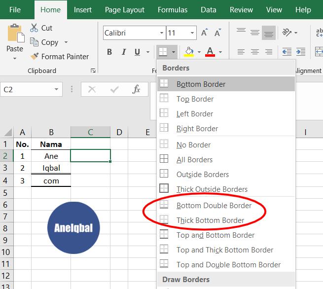 Cara Membuat Garis Di Excel Garis Kolom Dan Baris Aneiqbal