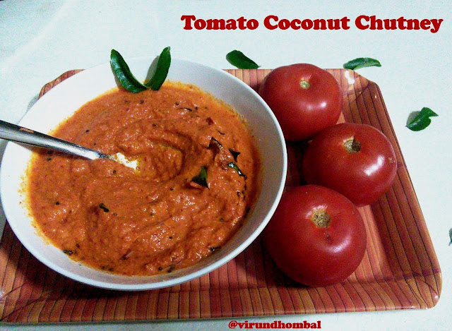 Tomato Coconut Chutney  - Tomato coconut chutney is a popular chutney in restaurants served for idly, dosa, rava dosa and also for starters like panniyaram and vada. Side dish for idly and dosa, Chutney recipes, Chutney with tomato