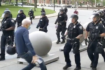 buffalo old man pushed by police
