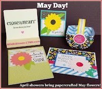 Blog With Friends, a multi-blogger project based post incorporating a theme, May Day.  | April Showers bring May Papercrafted Flowers by Melissa of My Heartfelt Sentiments | Featured on www.BakingInATornado.com