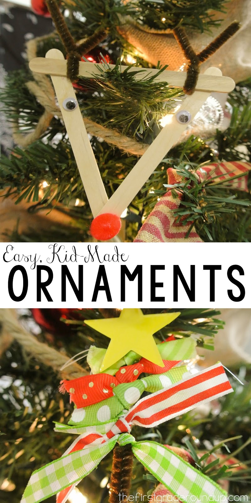 Christmas Ornament Gifts - Firstgraderoundup
