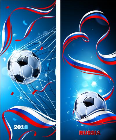 Banners de Gol en Rusia 2018- vector
