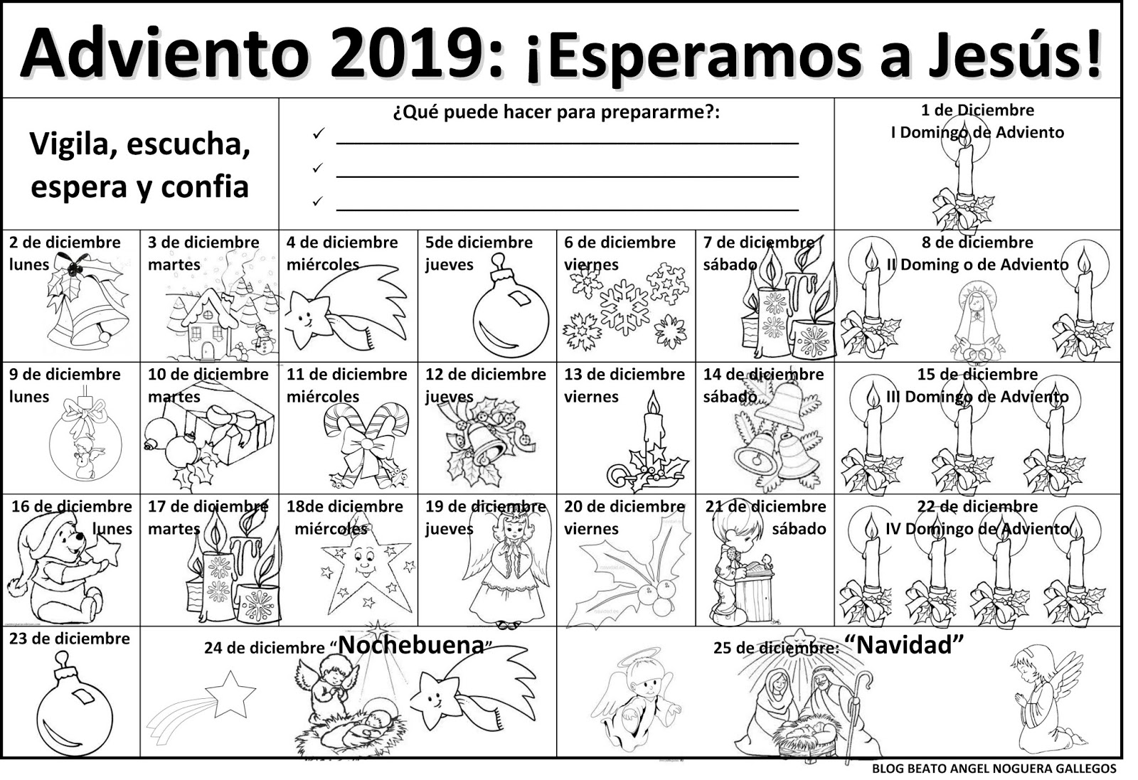 Beato ángel Noguera Gallegos Calendario De Adviento 2019