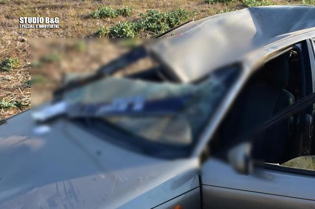 Εκτροπή και ανατροπή αυτοκινήτου στην Πυργέλα Άργους