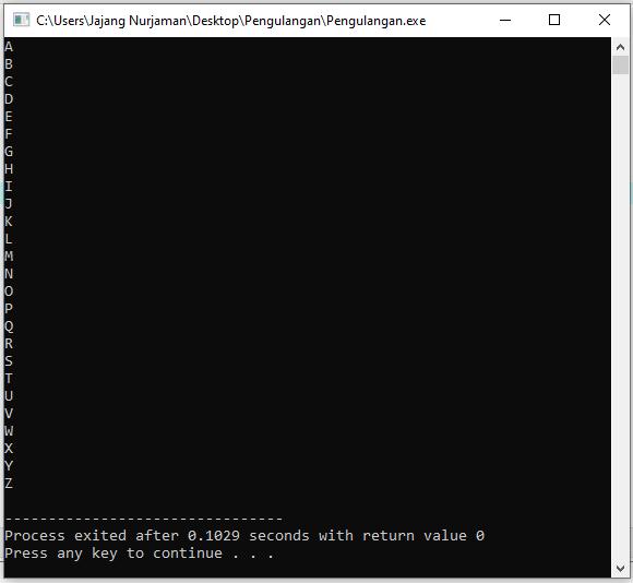 Belajar Pengulangan atau Looping pada C++