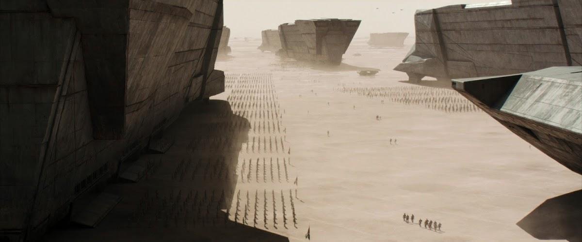 Atreides spaceships in Dune (2021) movie