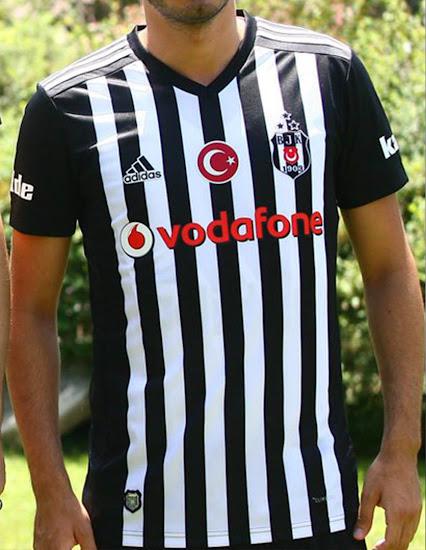 d8c35bb4e This image shows the Adidas Besiktas 2017-2018 Away jersey.
