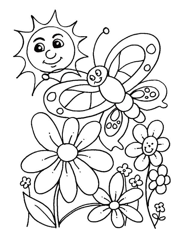 Desenhos da primavera para colorir