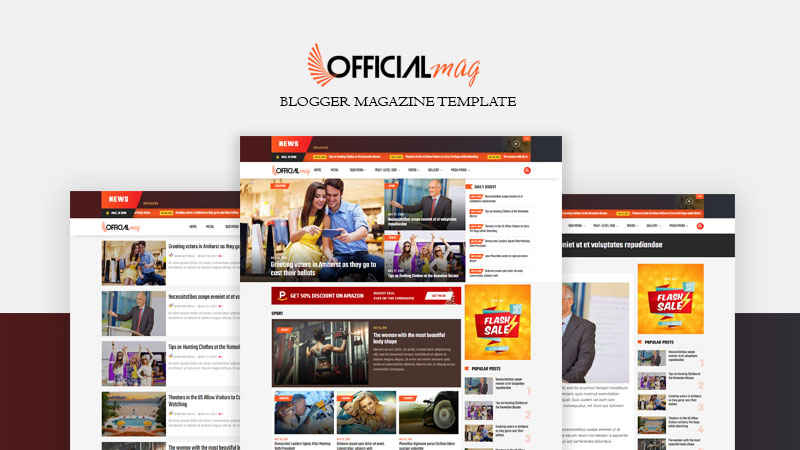Official Magazine Responsive Blogger Template - Responsive Blogger Template