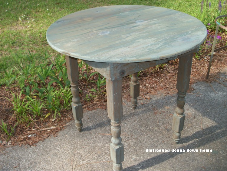 Distressed Donna Down Home Green Milk Paint Table
