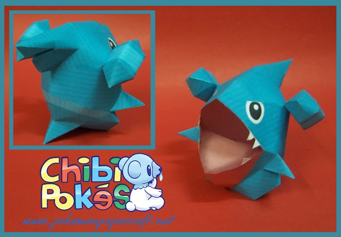 Gible Toy: Papercraft De Lys Paper T Paper Crafts Chibi And