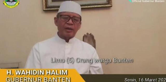 Gubernur Banten Umumkan 5 Warganya Positif Corona, 1 Warga Pondok Aren Meninggal Dunia