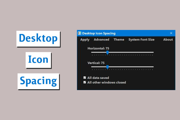 Desktop Icon Spacing - Ρυθμίζουμε την απόσταση των εικονιδίων στην επιφάνεια εργασίας των Windows