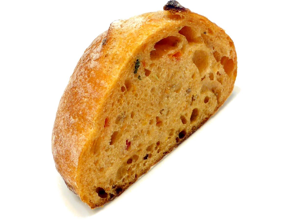セミドライトマトとバジルのリュスティック(Pain rustique à la tomate séchée et basilic) | GONTRAN CHERRIER(ゴントラン シェリエ)