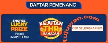 Cara Cek Daftar Pemenang Shopee 6 Mei 2021 Kejutan THR Ramadhan