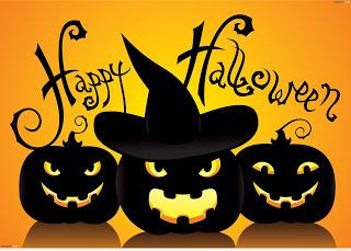 Happy Halloween cartoon card 2016