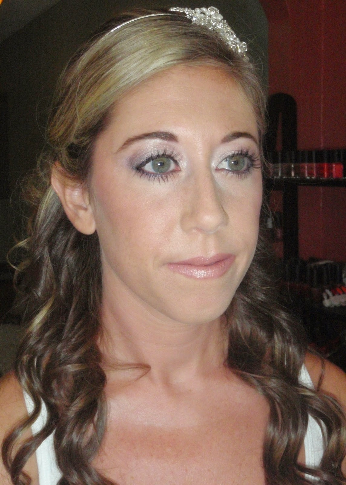 bridal makeup with fiber lash extensions